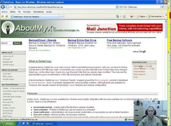 DeltaCopy: instalación y configuración