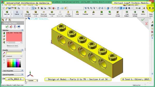 Creación Virtual Modelo Lego Technic 8862-1 ¿ Piezas 2 a 70 ¿ 04 de 36