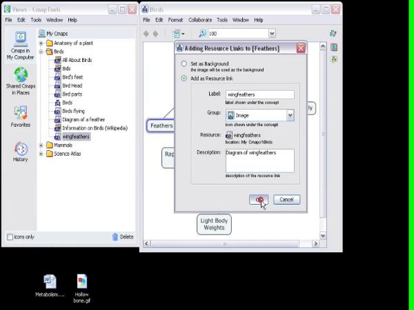 CmapTools Como Agregar Recursos
