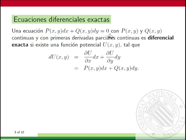 Ecuación diferencial exacta