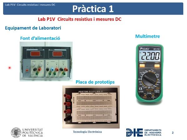 Lab P1_V 2021-Circuits resistius i mesures DC alumnos explicacion de la práctica1