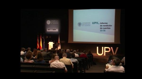 Acto de Presentación del informe de rendición de cuentas 2016 de la Universitat Politècnica de València
