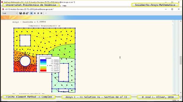 Solución Elementos Finitos Dominio-Plano en Ansys-Classic y Mathematica -T6- v2018 - 08 de 11