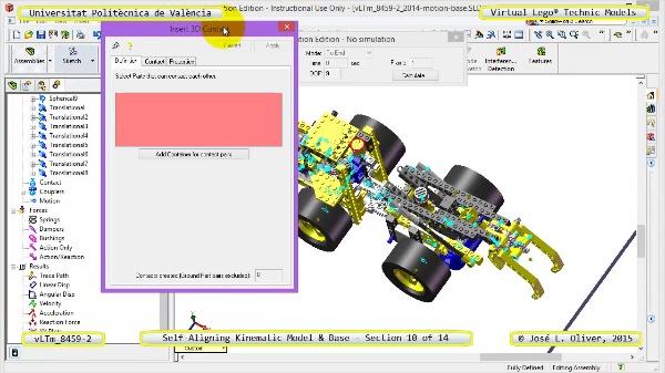 Simulación Dinámica Lego Technic 8459-2 sobre Base ¿ 10 de 14