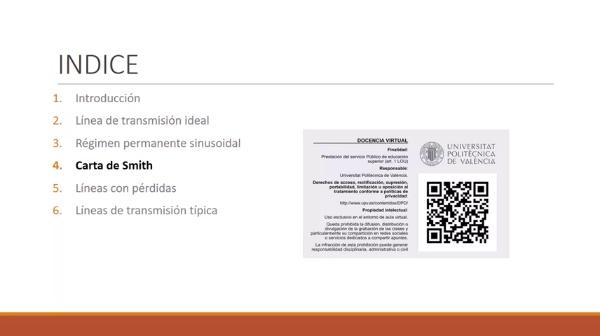 Fundamentos de transmisión. Tema 4.4.4.1. Carta de Smith. Redes de adaptación. LT y stub serie.
