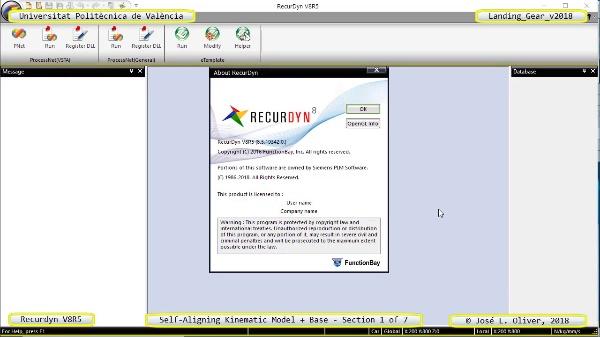 Simulación Dinámica de Tren de Aterrizaje con Recurdyn V8R5 - 1 de 7