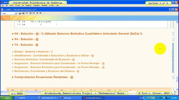 Solución Cinemática Simbólica a_c_0683 con Mathematica -A- 5 de 5