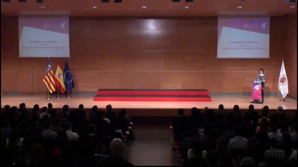 Acto de recepción a las delegaciones de alumnos y alumnas de la UPV