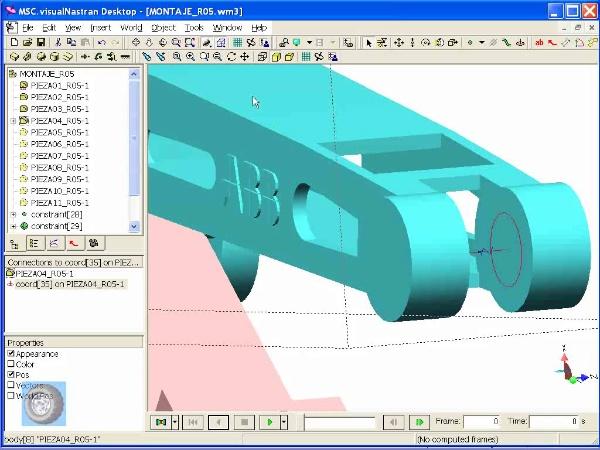 Montaje de robot ABB con MSC Visual Nastran Desktop -Tramo 03 de 07