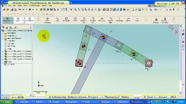 Simulación Mecanismo a_c_0658 con Mechanica - 03 de 18