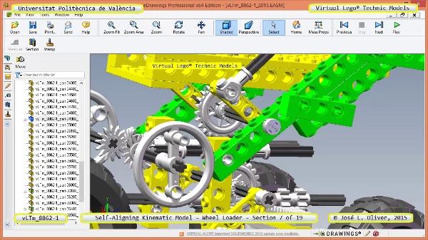 Simulación Cinemática Modelo Lego Technic 8862-1 -Cargador- 07 de 19