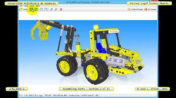 Montaje Modelo Lego Technic 8459-2 con Solidworks ¿ 02 de 15