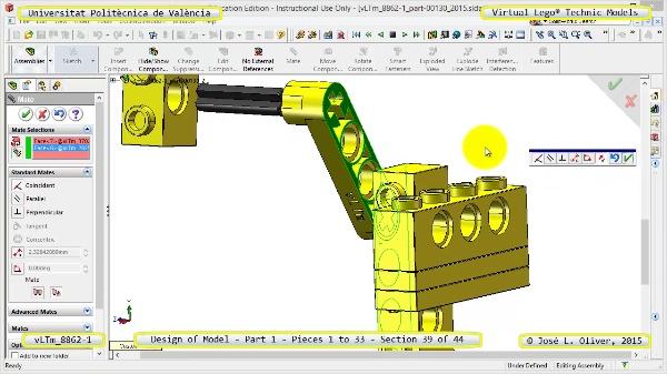 Creación Virtual Modelo Lego Technic 8862-1 ¿ Pieza 1 ¿ 39 de 44