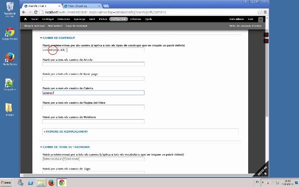 Gestió de les URLs en Drupal