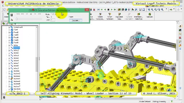 Simulación Cinemática Modelo Lego Technic 8862-1 -Cargador- 13 de 19