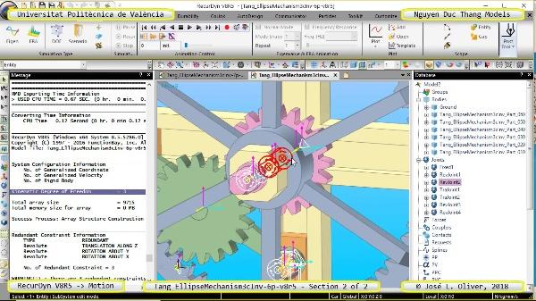 Simulación Cinemática Tang_EllipseMechanism3cInv-6p-v8r5 con Recurdyn - EngTa - 2 de 2