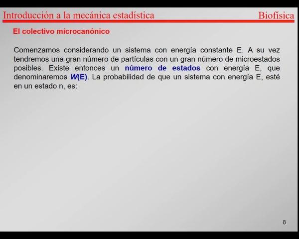 6.-Física Estadística T7-T9-Postulado Fundamental