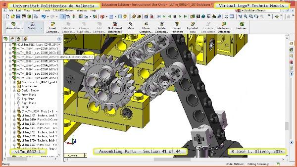 Creación Virtual Modelo Lego Technic 8862-1 ¿ Montaje Modelo ¿ 41 de 44