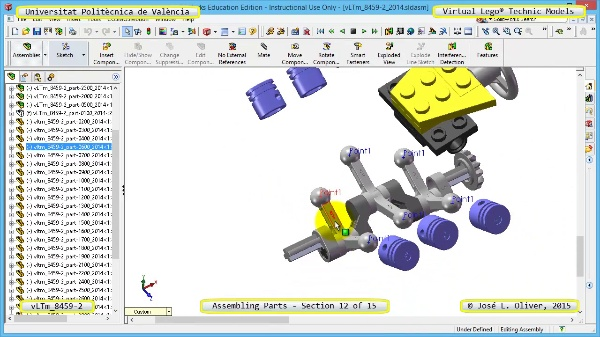 Montaje Modelo Lego Technic 8459-2 con Solidworks ¿ 12 de 15