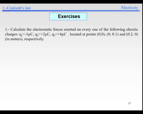 Elec-1-Electric Field-S17-S21-Coulomb's Example