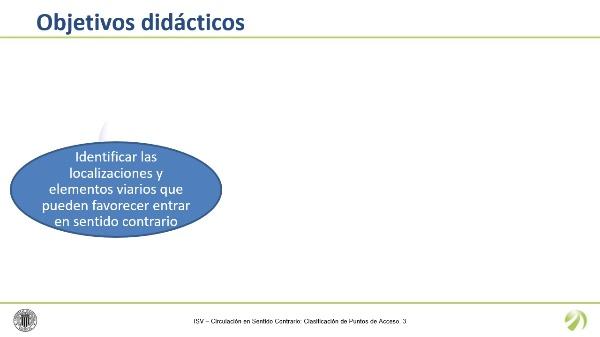 Circulación en Sentido Contrario: Clasificación de Puntos de Acceso