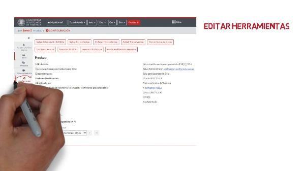 Configuración asignatura en PoliformaT