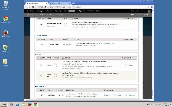 Configuració bàsica de Views en Drupal