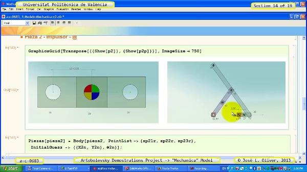Simulación Mecanismo a_c_0683 con Mechanica - 14 de 19
