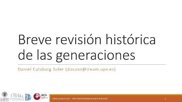 IRT - Redes 3GPP 03 - Historia generaciones