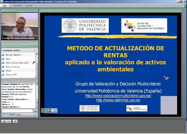 Método de Actualización de rentas aplicado a la valoración de activos ambientales