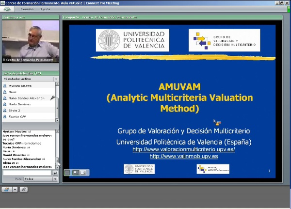 AMUVAM. Analytic Multicriteria Valuation Method