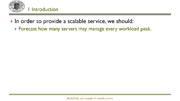 MediaWiki: An example of scalable service