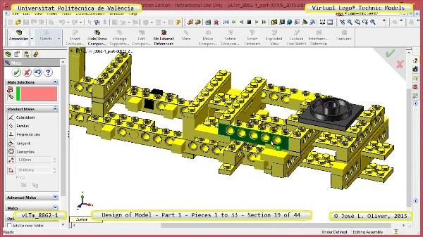 Creación Virtual Modelo Lego Technic 8862-1 ¿ Pieza 1 ¿ 19 de 44