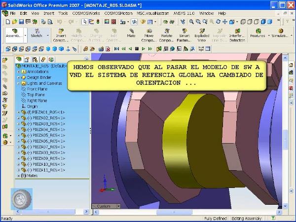 Montaje de robot ABB con MSC Visual Nastran Desktop -Tramo 02 de 07