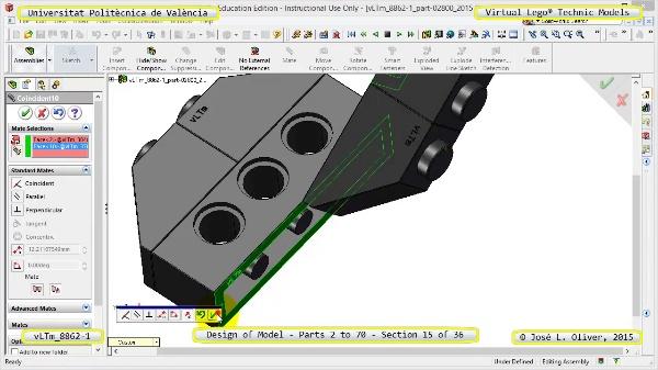 Creación Virtual Modelo Lego Technic 8862-1 ¿ Piezas 2 a 70 ¿ 15 de 36