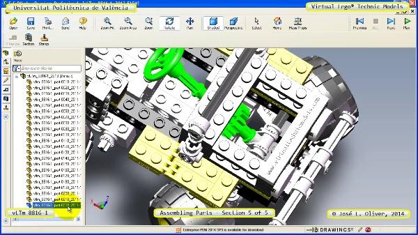 Montaje Modelo Lego Technic 8816-1 con Solidworks ¿ 5 de 5