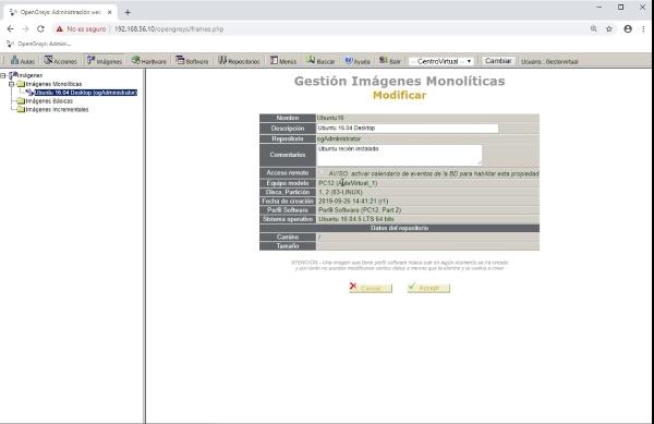 Crear imagen de un sistema Ubuntu con OpenGnsys