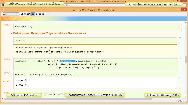 Solución Cinemática Simbólica a-z-1133 con Mathematica - 03 de 26