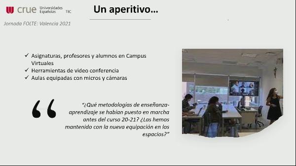 Sesión Paralela. Espacios, tecnología y nuevas metodologías en el aula
