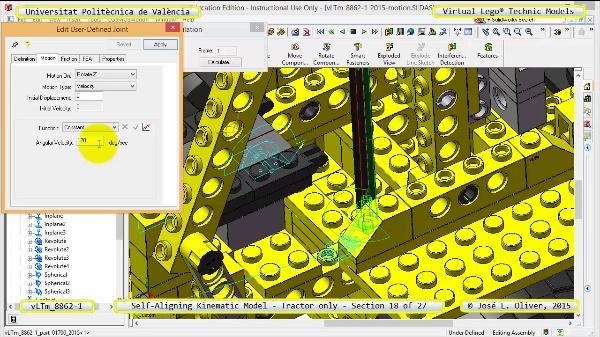 Simulación Dinámica Lego Technic 8862-1 - Tractor - sobre Base - 18 de 27