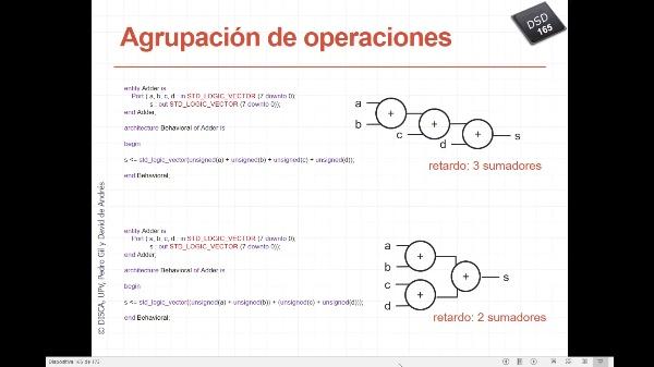 DSD - Tema 6 - Flujo de diseño para FPGAs - Síntesis - Optimizaciones