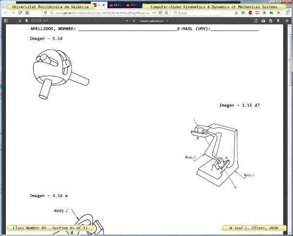 Mecánica y Teoría de Mecanismos ¿ 2020 ¿ MM - Clase 09 ¿ Tramo 05 de 13