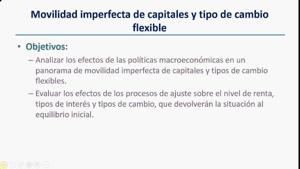El modelo IS-LM con movilidad imperfecta de capitales y tipo de cambio variable