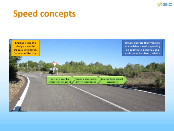 Operating speed analysis and consistency estimation
