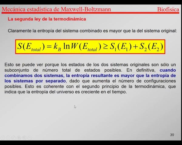 6.-Física Estadística T38-T39- Entropía creciente