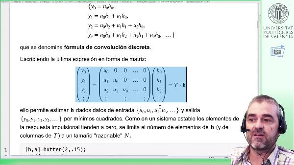 Identificación de respuesta impulsional discreta con regularización Kernel: ejemplo modelos a priori
