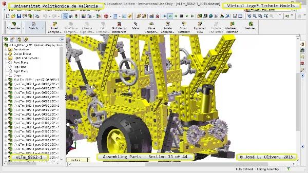 Creación Virtual Modelo Lego Technic 8862-1 ¿ Montaje Modelo ¿ 33 de 44