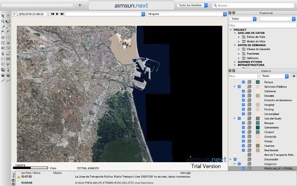 Importar archivo de mapa oms e imagen ecw en AIMSUN