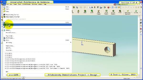 Creación Virtual Mecanismo a_z_1190 con Solidworks - 1 de 4