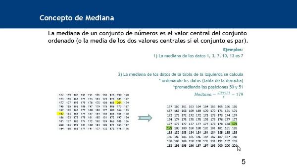 Cálculo de la mediana de datos agrupados